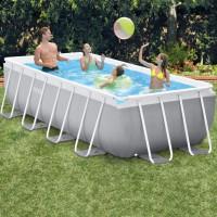 Каркасный бассейн 400х200х122см + фильтр-насос + лестница Intex 26790