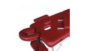 Массажный стол Dfc Nirvana, Elegant Luxe, 186cm*70cm*4cm алюм. ножки, цвет бордовый (Wine)
