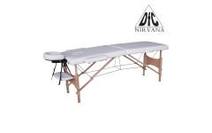 Массажный стол DFC NIRVANA, Relax, дерев. ножки, цвет кремовый (Cream),    НОВИНКА