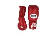 Перчатки для кикбоксинга REALSPORT RS112 12 унций, красный