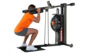 Тренажер для приседаний и жимов (squat) FluidPowerPRESS Grey