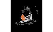 Эллиптический тренажер коммерческий PROXIMA GRAVITAS FE758TGBQ
