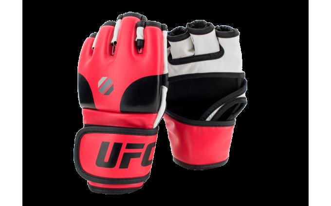 Перчатки MMA тренировочные с открытой ладонью (Красные L/XL) UFC