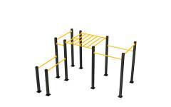 Воркаут площадка Kampfer Master Power Workout 4-2 (Черно-желтый)