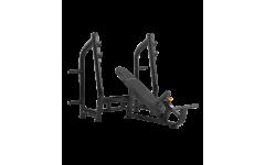 Скамья для жима с положительным наклоном BRONZE GYM H-025 (Чёрный)