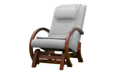 Массажное кресло-качалка EGO TWIST ГРЭЙ (Рогожка)