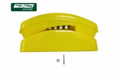 Пластиковый телефон желтый