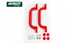 Пластиковый набор ручек красный