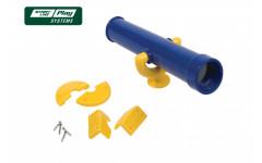 Пластиковый телескоп желто-синий